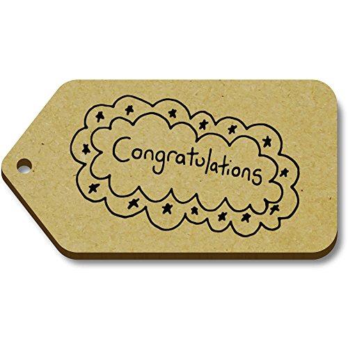 (Azeeda 10 x 'Congratulations' 66mm x 34mm Gift Tags)