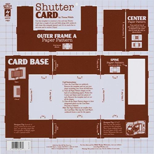 Hot Off The Press Shutter Card Template