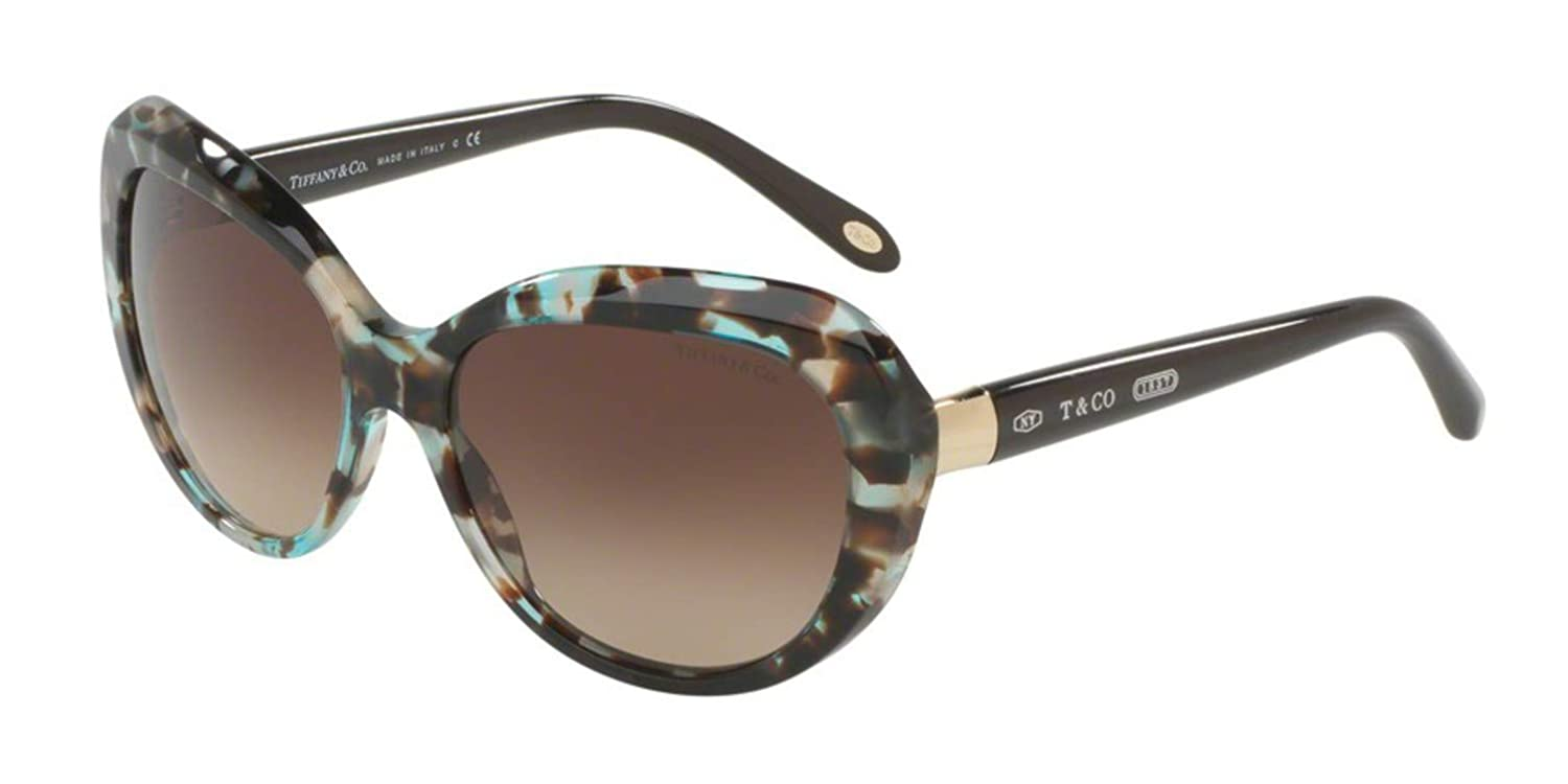 Tiffany & Co. 0TY4122 82153B 56 Gafas de Sol, Azul (Brown Havana Spotted Opal Bluee/Browngradient), Mujer