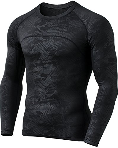 Skin Long Sleeve Compression Shirt (CQ-HUD304-BLK_Small CQR Men's Thermal WinterGear Compression Baselayer Long Sleeve Shirt HUD304)