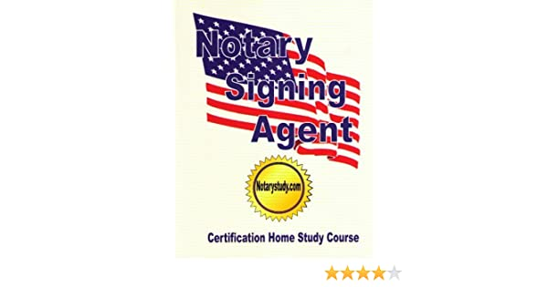 Notary signing agent certification home study course notarystudy notary signing agent certification home study course notarystudy 9780977392414 amazon books publicscrutiny Image collections