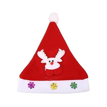 48c55e95d4fe5 Amazon.com  monque Santa Elk Snowman Xmas Cap Party Costume Supplies ...
