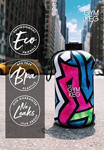 The Gym Keg Sports Water Bottle (2.2 L) Insulated | Half Gallon | Carry Handle | Big Jug Sport, 64oz Hydro Jug, Large Reusable Bottles | Ecofriendly, BPA Free Plastic, Leakproof