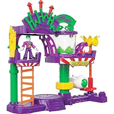Imaginext Fisher-Price DC Super Friends The Joker Laff Factory, Multi Color, Model:GBL26: Toys & Games