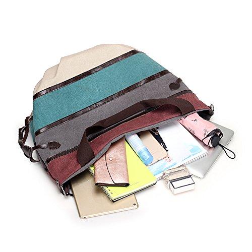Bag Tote Canvas Bag Color Red Messenger Shoulder Hobos Striped Nameblue 870 wine Multi Handbag Women Girl's waqBz
