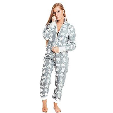 nuovo prodotto 11d62 989fc PIGIAMA Intero Donna Bear con Cerniera Frontale e Posteriore - vestibilità  Piccola Prendere Una Taglia in più