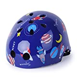 Cheap WIN.MAX WinMax Multi-sport Skateboarding Skating & Cycling Safety Bike Helmet for Kids (Dark Blue, with Pattern, S)