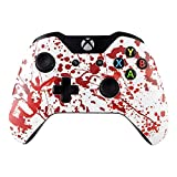 xbox one controller personalized - eXtremeRate Blood Rebel Top Front Housing Shell Case Faceplate Replacement Parts for Standard Xbox One Controller With and Without 3.5 mm jack