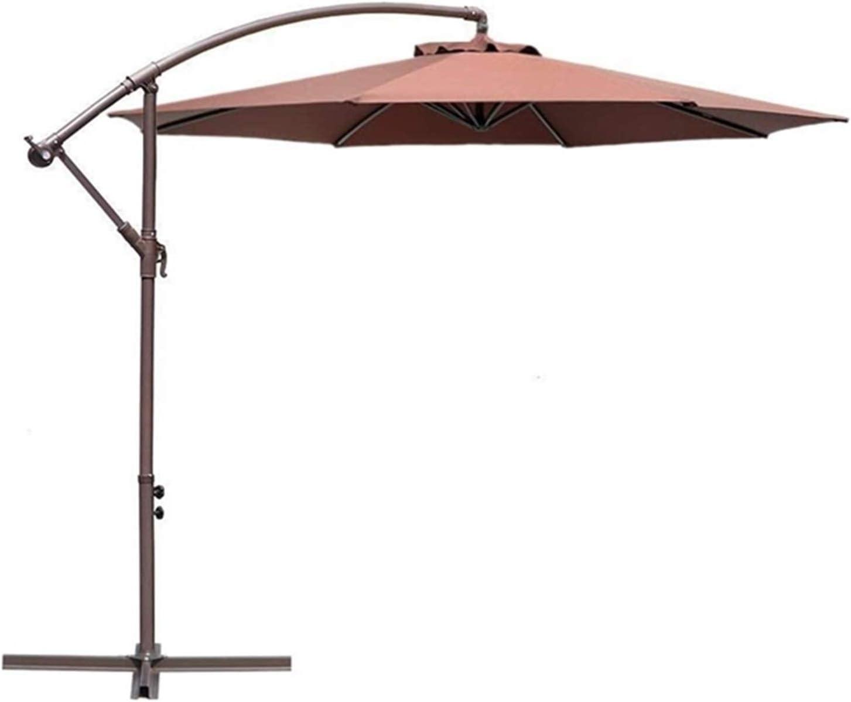 MMBBOD 300cm Parasol de Jardín sombrillas terraza inclinable Grande Sombrillas Patio con Manivela Protección Solar UV 50+, para Jardín Patio Playa Exterior