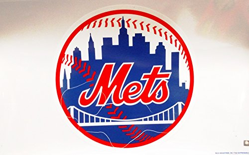 Window Clings Baseball (New York Mets Reusable JUMBO Cling Auto Home Window Static Decal Baseball)