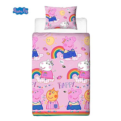 (Peppa Pig Friends Duvet Cover With Matching Pillow Case - Two Sided Reversible)