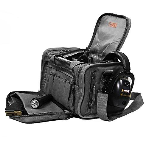 Osage River Tactical Shooting Gun Range Bag (Gunmetal Grey, Light Duty (13.5 x 10.5 x 7.5) Inches) by Osage River (Image #3)