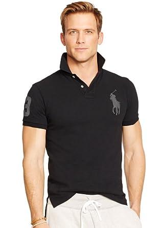 Polo Ralph Lauren Men\u0026#39;s Short Sleeve Shirt Big Pony- M (U.S.) Black (