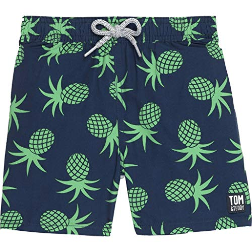 - Tom & Teddy Boy's Pineapple Swim Trunk   Irish Green/Age 7-8