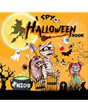 I Spy Halloween Book For Kids: Play And Think! - Halloween Books For Kids 3-5   Funny Activity, Interactive Picture, Spooky Scary Things, Alphabet Riddles, Coloring For Toddlers