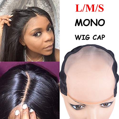 Monofilament-Wig-Cap Most Similar To Scalp Skin Cap Wigs L M S Size Wig Cap For Making Wigs With Adjustable Strap 1PC 1PC S Size by Cemptation Beauty