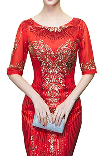 Missdressy - Vestido - Estuche - para mujer Rojo