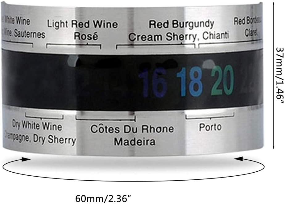 huyiko Thermom/ètre /À Vin Rouge en Acier Inoxydable 4-26 Sensor Bracelet Capteur De Temp/érature LCD Affichage Bar Partie Ustensiles De Cuisine
