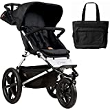 Mountain Buggy Terrain Jogging Stroller - Onyx with Diaper Bag