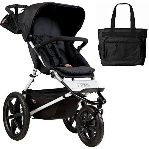 Mountain Buggy Terrain Jogging Stroller - Onyx with Diaper Bag (Mountain Buggy Jogging Stroller)