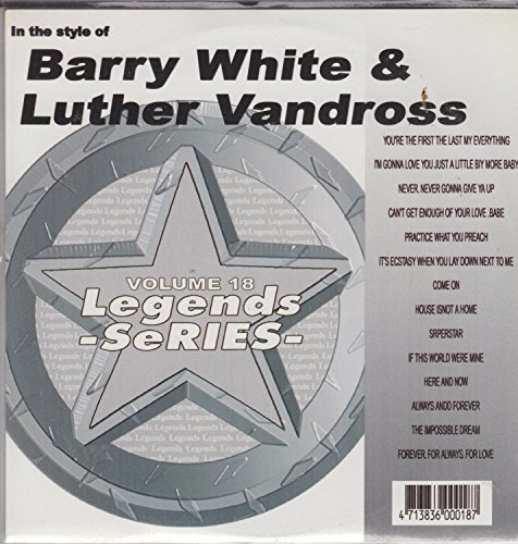 Legends Karaoke CDG Hits of BARRY WHITE And LUTHER VANDROSS Music CD ()