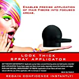 LOOK THICK Hair Fiber Spray Applicator Pump, Disperse and Evenly Distribute Hair Fibers, Precise Application, No Mess or Product Wastage