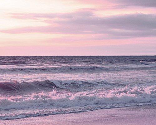amazon com pink lavender sunset photography calming ocean art
