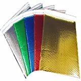 StarBoxes 250 Gold Bubble Mailers 7''x6.75'' Metallic Glamour Self-Sealing Envelopes