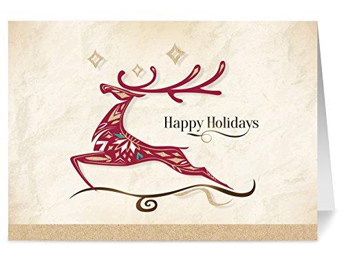 Holiday Cards - One Jade Lane - Holiday Wonder, 5x7, Heavy Stock, Set of 18 Cards & Envelopes, Seasons Greetings Cards.