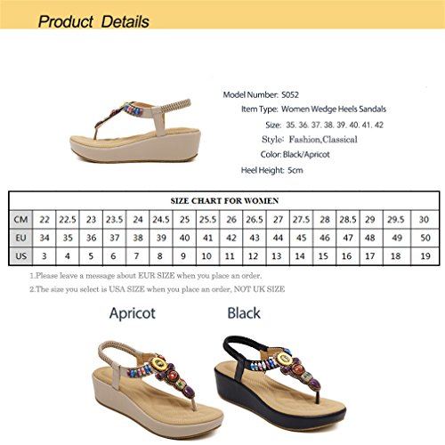 Slip Plateforme Peep Causal Femme Chaussures Talons Black Plage Compensés Lumino On Toe Femmes Sandales 4q60B0