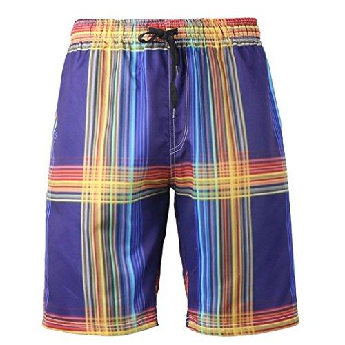 SUABO Mens 2-Pack Boxer Briefs Polyester Underwear Trunk Underwear with Moon Design