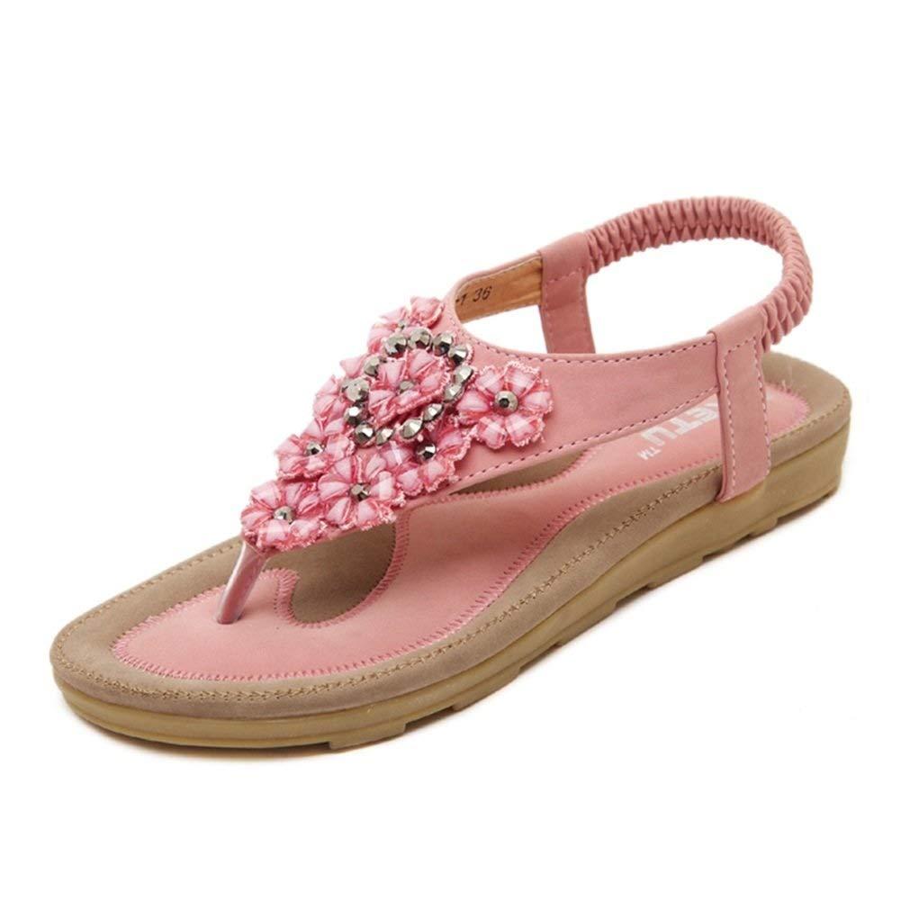 LPYMX LPYMX LPYMX Damenschuhe, Flip-Flops, Strand, Strandurlaub (Farbe   Rosa, größe   EU39 UK6 CN39 245)  1f3502