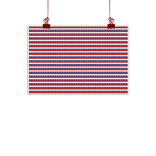 (Simple Life Minimalist 4th of July,Stars and Stripes Pattern American Flag Inspired Patriotic Theme,Violet Blue Ruby White 24