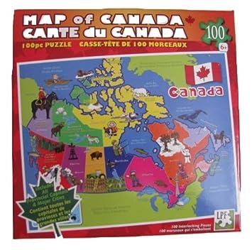 2 Map of Canada Puzzle Casse Tete de 100 morceaux Jigsaw