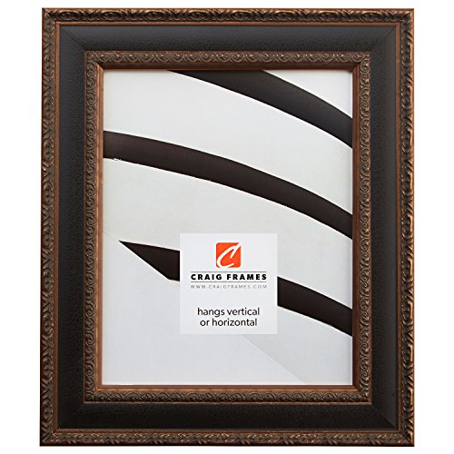 - Craig Frames Galerie, Antique Gold and Black Picture Frame, 11 by 14-Inch