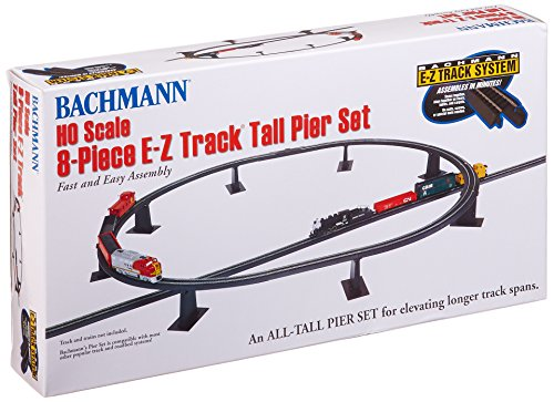 (Bachmann Trains 8 PC. E-Z TRACK Tall Pier Set)