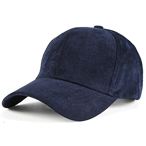 Aodray Corduroy Baseball Cap for Men and Women, Solid Color, Adjustable Hat - Mens Corduroy Hat