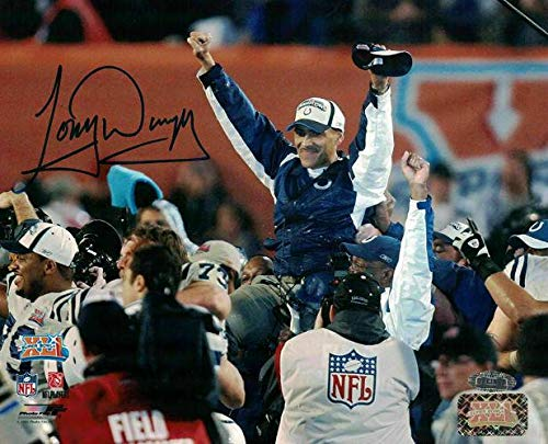 (Tony Dungy Signed Photo - 8x10 SB XLI 14547 - Steiner Sports Certified - Autographed NFL Photos)