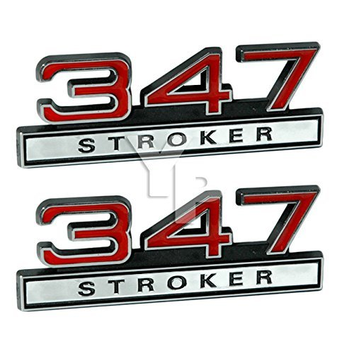 - 347 5.7 Liter Engine Stroker Emblems in Chrome & Red - 4