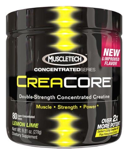 MuscleTech Creacore, Citron Citron vert - 80 portions, concentré de créatine HCl poudre 9,81 oz (278g).