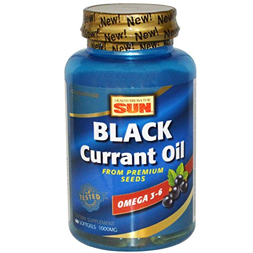 Health From The Sun, Black Currant Oil, 1,000 mg, 60 Softgels - 2pc by  (Image #1)
