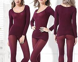 639c17ca83d Dapengzhu Hot Winter 37 Degree Women Slimming Thermal Underwear Ultrathin  Heat Long Elastic Body Suit wine. Loading Images.