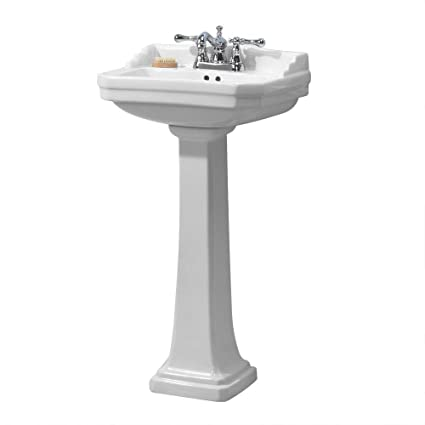 Foremost Series 1920 FL 1920 4W Pedestal Combo Bathroom Sink, White