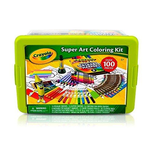 Crayola Super Art Coloring Kit - Green or Yellow