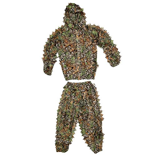ABCAMO Lightweight Camouflage Hunting Bionic Ghillie Suit fo