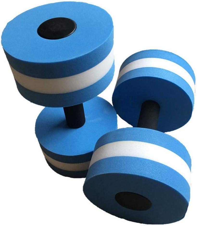 NOBRAND Mancuerna Pesas Mancuernas 2pcs EVA Agua Acuático Aptitud mancuerna Piscina Ejercicio Aerobic Entrenamiento Medio acuático Barra de Fitness Entrenamiento con Mancuernas Pesas (Color : Blue)