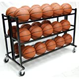 Trigon Sports Heavy Duty Double Wide Ball Cart