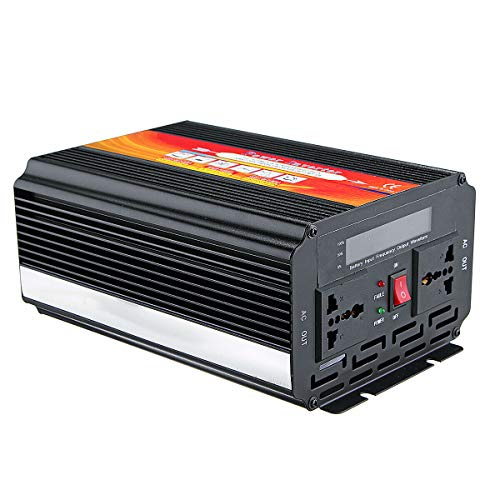 QUAKOI 5000W Smart Solar Power Inverter DC 12V/24V to AC 220V/110V Converter