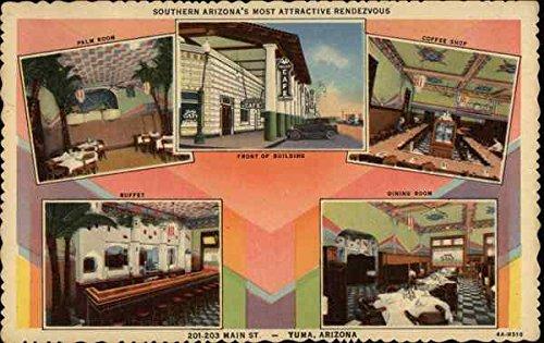 The Valley Cafe and Palm Room Yuma, Arizona Original Vintage - Yuma Palms The