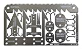 TITAN SurvivalCard | 22-in-1 Credit Card Sized Emergency Tool with Fishing Hooks, Arrow Heads, Snare Locks, Needles, Saws, and more…